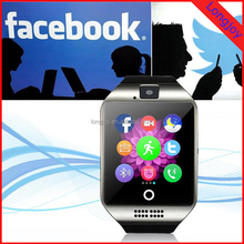 Gift Promotion Smart Phone Watch Bluetooth watch with Micro Sim Card Mobile 2.5D Full Arc