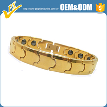 Attractive and charming couple designs tungsten bracelet jewelry gold plated