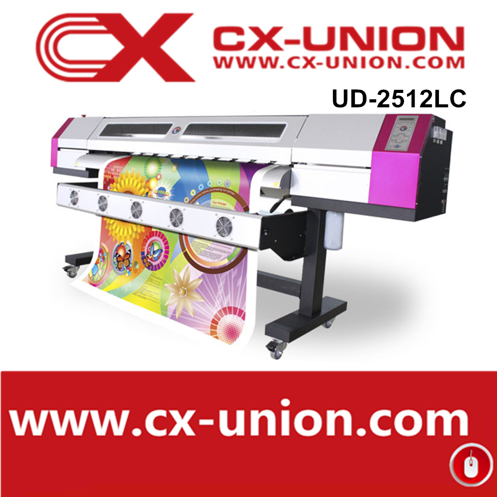 Large format 1440dpi galaxy UD2512LC 2..5m digital plotter with two dx5 head for vinyl sticker printing