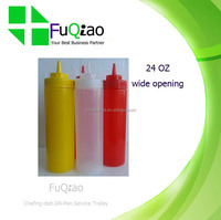 24OZ Lower Price Food Grade Plastic Sauce Squeeze Bottle with Screw Cap