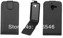 New Black Leather Case for Sony Xperia ZL L35h C6502 Flip Case
