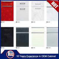 2017 factory cheap round corner kitchen cabinet door acrylic laminate unfinished raised panel cabinet doors