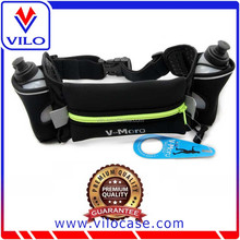 Runners Waist Pack / Unisex Fanny Pack / Sports Waist Bag for Running with Water Bottles Holder