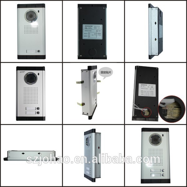 China factory ACTOP wired video door bell for 2 apartments intercom system