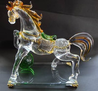 Lovely Crystal horse Craft Crystal Figurine Universal Christmas Gift