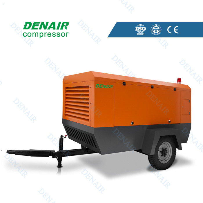 Diesel portable air compressor for mining in mine drilling rig