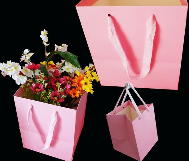all color design wedding art paper flower packaging gift bag made in china