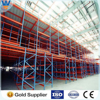 Mazznine flooring /rack system/ adjustable Q235 power coating ISO9001&CE multi-layer steel warehouse multi-level mezzanine floor