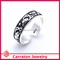 Factory Competitive Price Jewelry 925 Sterling Silver Antique Carving Ring For Men