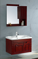 American classic style under sink solid wood bathroom space saver cabinets