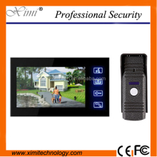 806M11 access control system intercom door bell IR Camera with night vision wired 7 inch color handsfree intercom