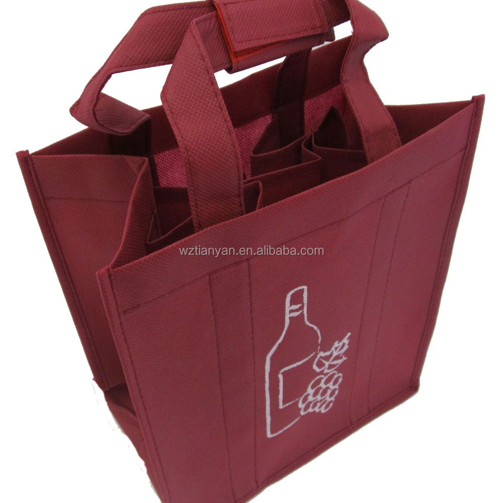 non woven tote bag 6 bottle wine tote bag in China