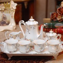 European Classic Ivory Porcelain Tea Coffee Set for Wedding Gift