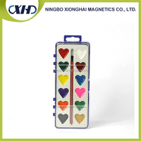 Wholesale in china 12 heart shaped semi-dry water color cakes