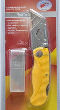 Factory direct high quality ABS material folding utility knife with 5pcs T type blades