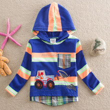 2-6Y (L85520#BLUE and GREY)Nova kids new winter clothes stripe cotton boy <strong>hoodie</strong> tops boy clothing