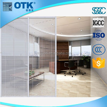 2016 High quality wholesale fashion sliding glass doors internal blinds