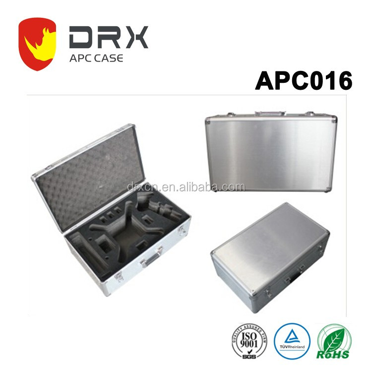 Durable custom aluminum tool trolley case with metal lock