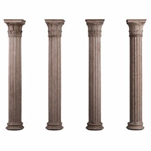 Antique Garden Decoration Stone Marble Column Statue for Sale