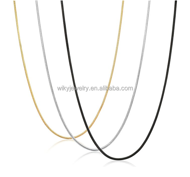 ATHENAA new gold chains snake bone flat Clavicle brass necklace for men and women