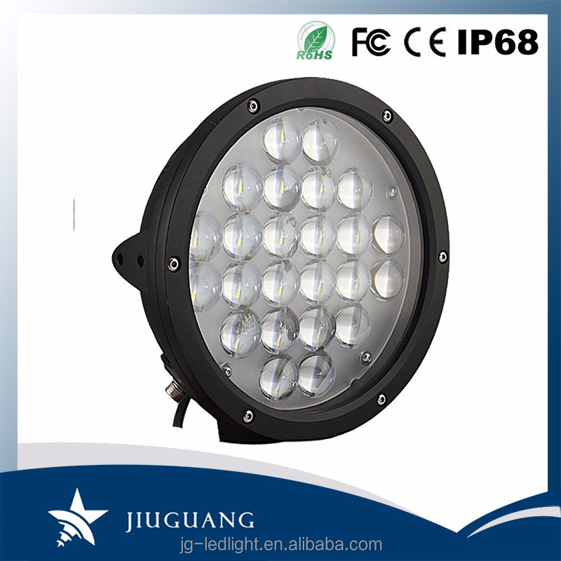 Highly Bright Spot Beam PMMA Lens 10800 Lumen IP68 9 Inch Round 120W LED Worklight