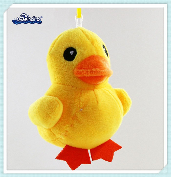 HOT SALE round shaped cute yellow chicken stuffed toys keychain
