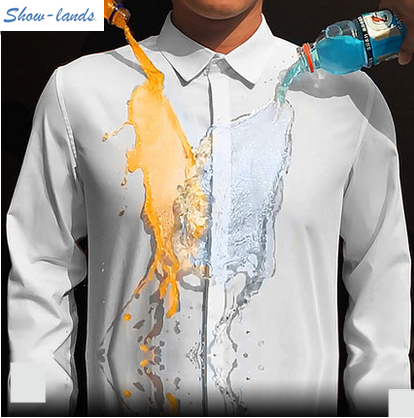 Showlands Curved Hem Hydrophobic Latest Shirt Designs For Men