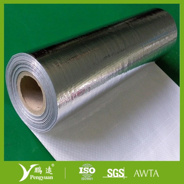 7 micron Pure Aluminum foil coated with High density polythene fabric