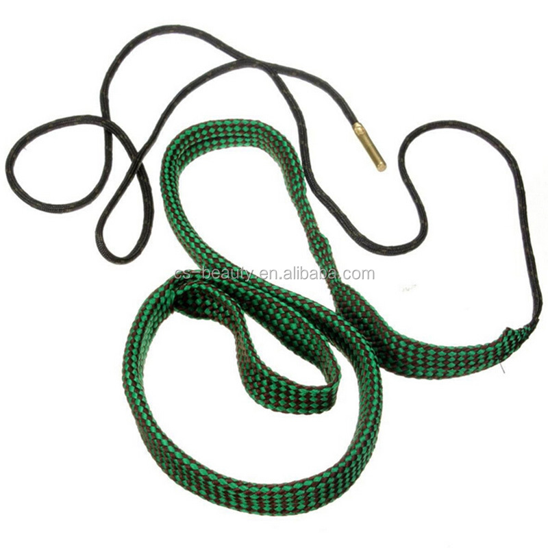 New Arrival Green Bore Snake Rope 22 Cal 5.56mm 223 Caliber Gun Rifle Cleaning Cord Kit Hunting Airsoft Gun Accessories