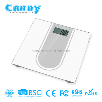 Shiny Small Lightweight Digital bathroom Scale w/ BMI Calculation, Auto Identify 4 Users