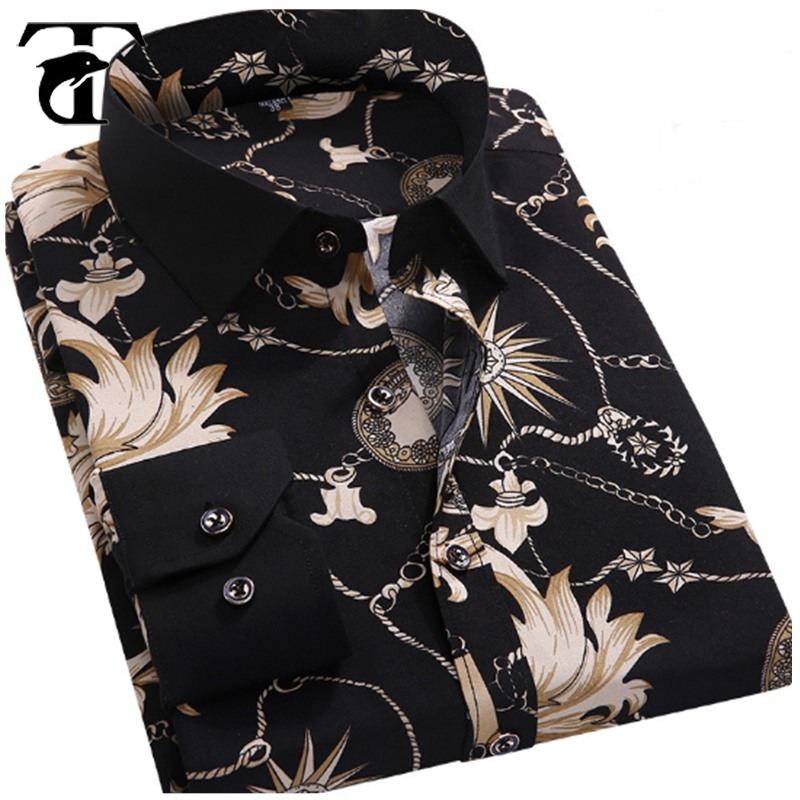Factory Price Fancy Printed Men's <strong>Shirt</strong> 2017