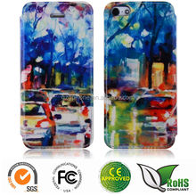 Sublimation heat transfer printing leather case DIY printing case for Samsung galaxy S5