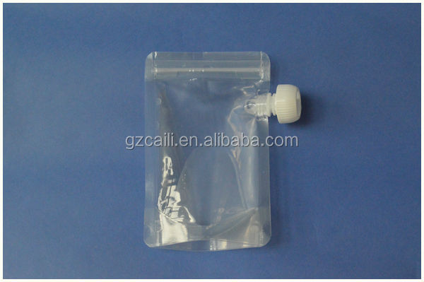 oem laminated stand up waterproof zip water juice pouch