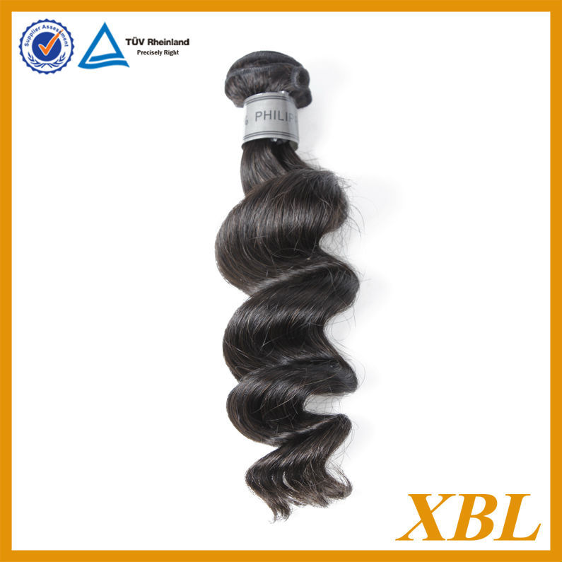 Guangzhou Xibolai hair firm 100% human virgin loose wave Philippine hair weave for sale