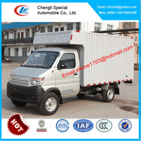 Changan mini box van truck,small delivery van