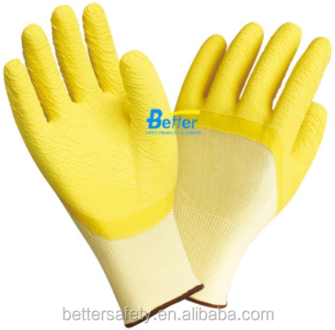 13 guage Nylon polyester Latex 3/4 Coating Wholesale Work Gloves Made In China