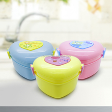 Portable Cute Heart Shaped Lunch Bento Box Plastic Food Contain Bento Box Kitchen Dinnerware Sets LunchBox