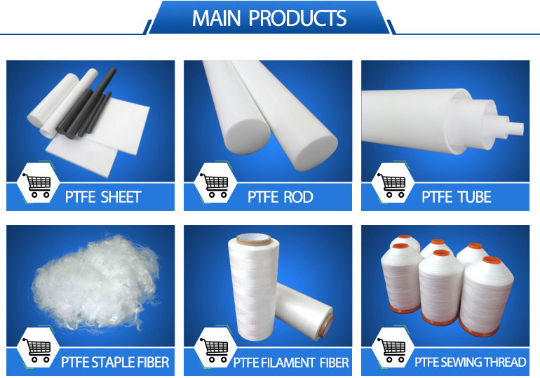 white 100% virgin extruded ptfe tube and molded ptfe tube