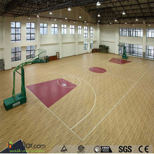 Top quality wood color pvc flooring roll for basketball court