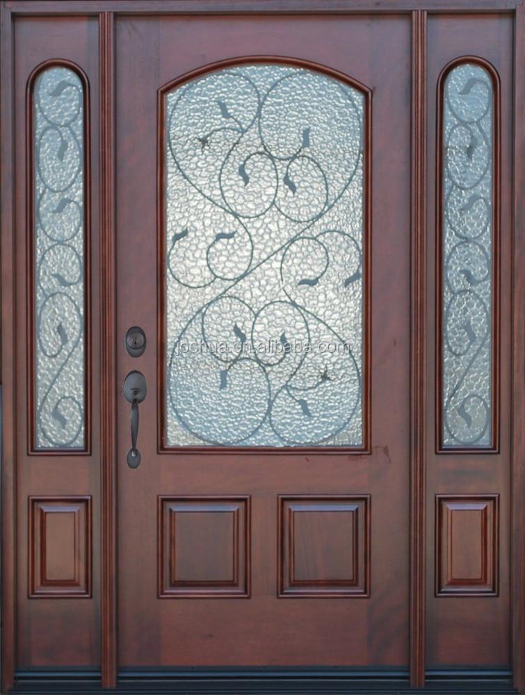 Mahogany exterior front entry door with sidelites buy for Order front door