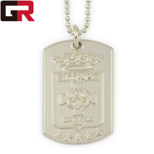 Cheap custom embossed dog tag military dog tags