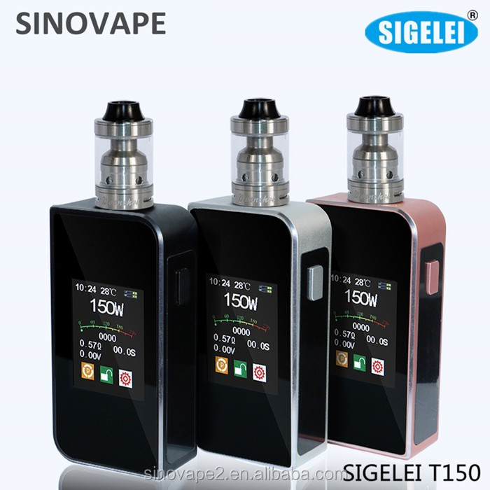 2016 New Arrivals!! Sigelei Touch Screen 150W Temp Control Large OLED Touch Screen Sigelei T150