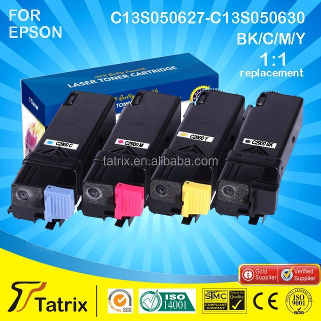 for Epson C13S050627-C13S050630 Compatible Toner Cartridge for Epson C2900/CX29NF