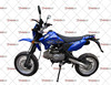Chrome steel frame 125cc motorcycle dirt bike