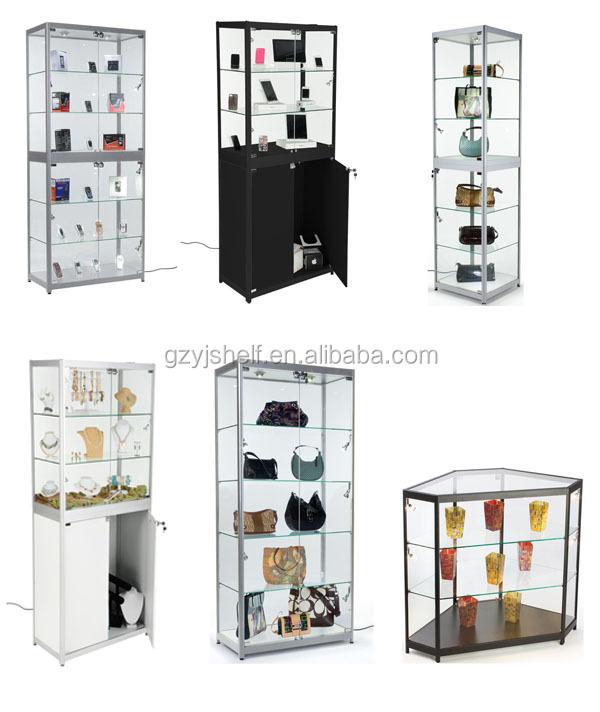 Modern Showcase Shot Glass Display Cabinet, Portable Glass Kiosk, Glass  Shop Counter, Wooden
