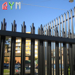 Steel Wrought Iron Picket Palisade Fence Low Price