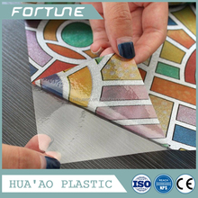 glass sticker window tinting film plastic embossed film factory embossed pvc