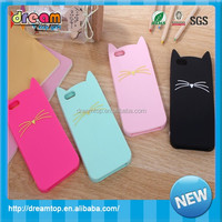 2015 hot selling silicone dog bling mobile phone cover/plastic case for iPhone 6