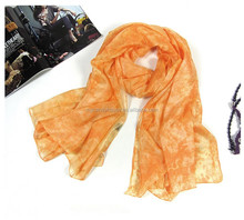 fashion silk paj blank scarf