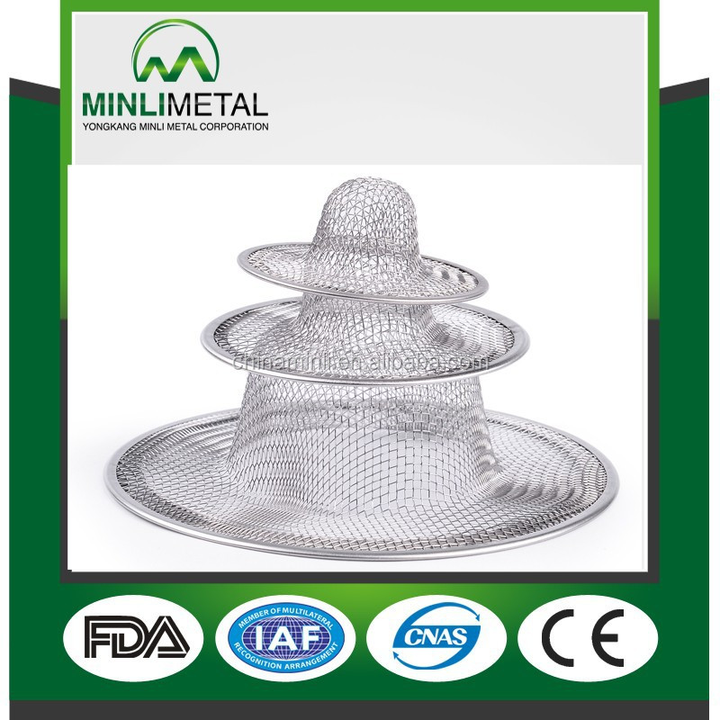 Stainless Steel kitchen Sink Strainer,mesh strainer,material stainless steel 201, 9 cm